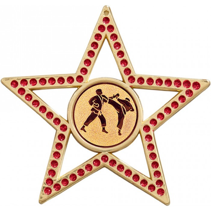 75MM RED STAR MARTIAL ARTS MEDAL - GOLD, SILVER, BRONZE